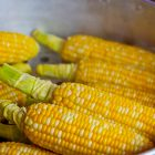 Corn husked in bowl
