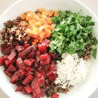 Wild Rice and Roasted Beets with Candied Pecans and Mandarin Oranges