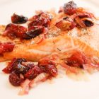 Sheet Pan Artic Char with Roasted Grapes & Shallots